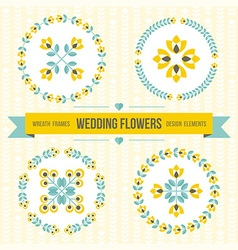 Wedding design elements - frames and flowers vector