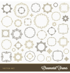 Set of flourishes ornament frames vector