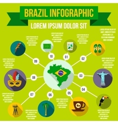 Brazil infographic elements flat style vector