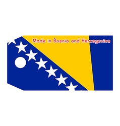 Bosnia and herzegovina flag on price tag vector