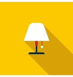 Floor lamp icon flat style vector