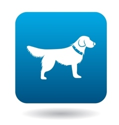 Dog icon simple style vector