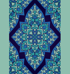 Abstract blue ornament vector
