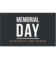 Background of memorial day art vector