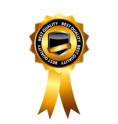 best choice label with gold ribbon vector image