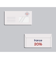 Brand identity template Envelope Front and back vector image vector image