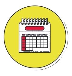 Calendar inside green button design vector image