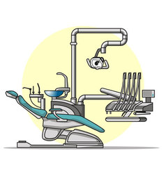 cartoon dentist chair vector image vector image