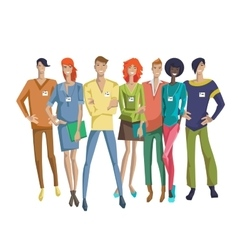 Colorful Business Group Concept vector image