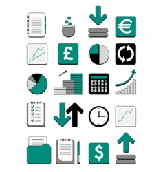 finance web icon vector image