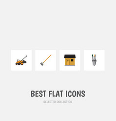 flat icon dacha set of pump stabling tool and vector image vector image