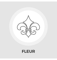 Fleur flat icon vintage style vector