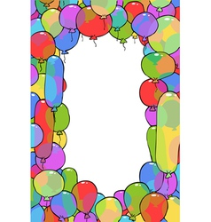 frame from balloons vector image vector image