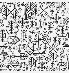 Futhark norse islandic and viking symbol seamless vector