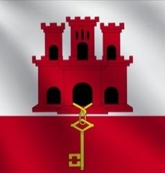 Gibraltar flag vector