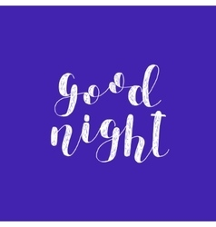 Good night brush lettering vector