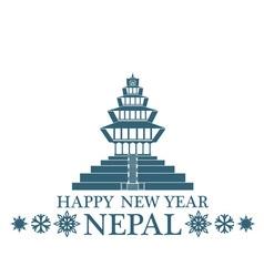 Greeting card nepal vector