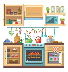 Home kitchenware vector image