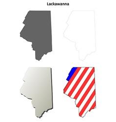 Lackawanna map icon set vector