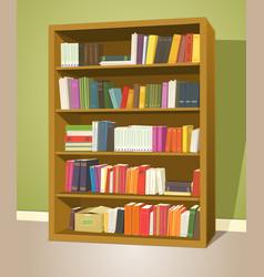library bookshelf vector image vector image