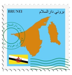 mail to-from Brunei vector image