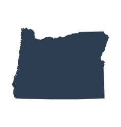 map of the US state Oregon vector image vector image