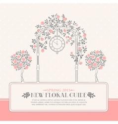 Roses garden vector