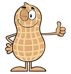 Royalty free rf clipart winking peanut cartoon vector