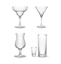 Set of cocktail glass vector