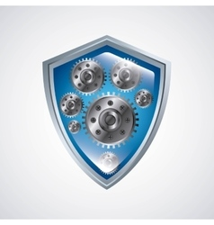 Shield icon security design graphic vector