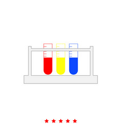 test tube it is icon vector image vector image
