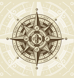 vintage nautical wind rose vector image vector image