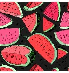 Watermelon hand drawn vector