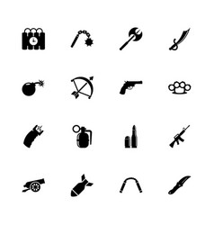 weapon - flat icons vector image