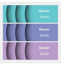 Set of realistic abstract banners with shadows vector