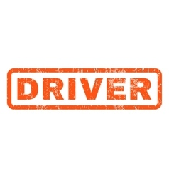Driver rubber stamp vector