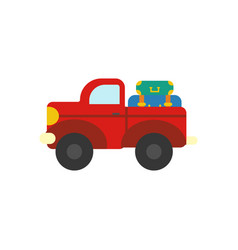 Truck with luggage vector