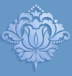damask volumetric ornamental element elegant vector image
