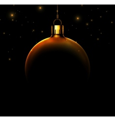 Christmas ball on black background vector
