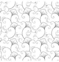 Seamless asian style floral wallpaper pattern vector
