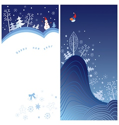 Winter holiday greeting card vector