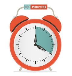 Twenty minutes stop watch - alarm clock vector