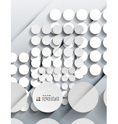 3d paper circles modern design vector image vector image