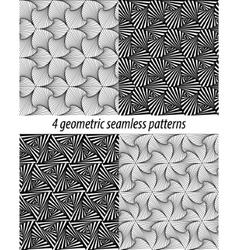 4 Paradox zentangle patterns vector image vector image