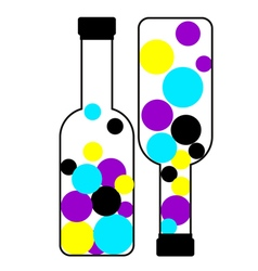 Bottles of ink with cmyk colors vector