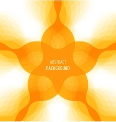 Abstract orange background with banner vector image