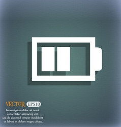Battery half level sign icon low electricity vector