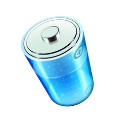 Blue battery icon vector