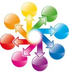 rainbow cycle arrows vector image