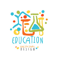 abstract educational label with chemical test vector image vector image